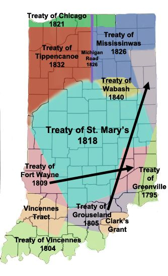 Miami treaties in Indiana Native Americans Pinterest