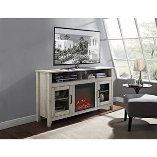 "58"" Traditional Wood Highboy Media TV Stand Console with Electric"
