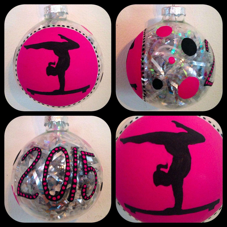 Gymnastics ornament christmas - Gymnastics Christmas Ornaments Gymnastic Kids Ornaments Sports Ornaments Kids Keepsakes Glass Ball