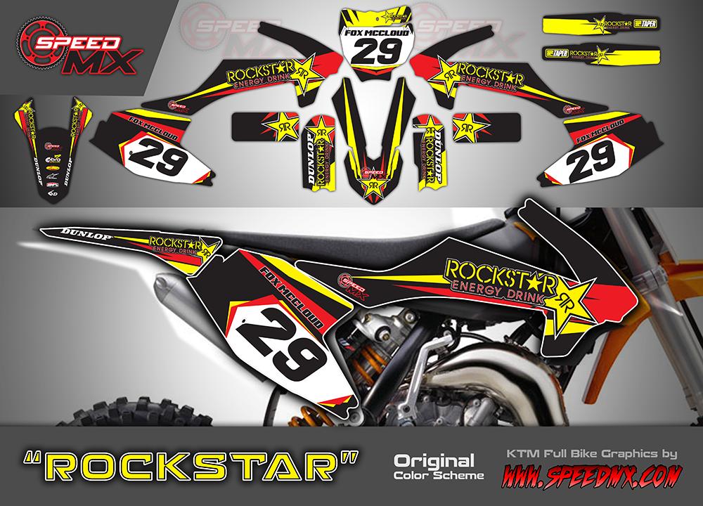 ROCKSTAR design 2016 - custom motocross dirtbike graphics