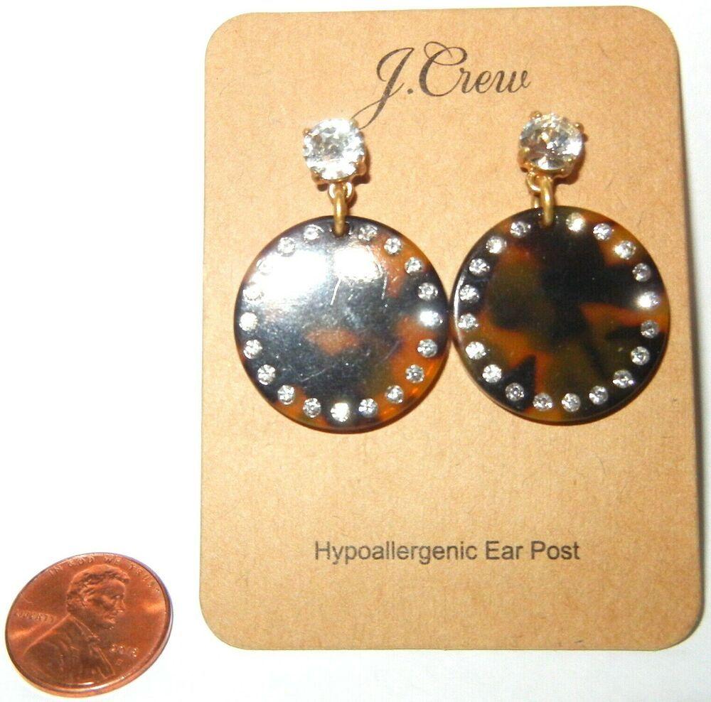 j crew earrings pierced crystal tortoise dangle beautiful! new! #JCREW #DropDang…