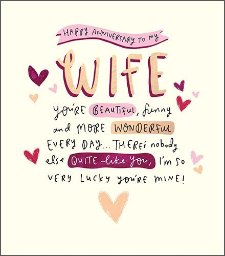 Beautiful Quotes For Wife On Wedding Anniversary: Wife Anniversary Card - HAPPY ANNIVERSARY TO MY WIFE