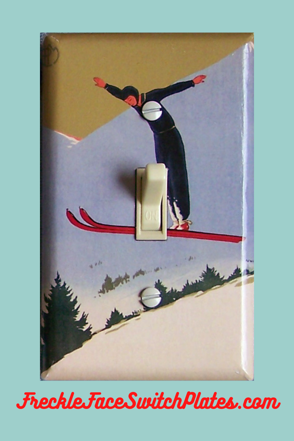 Home Decor Double Wall Plate Switch Plate Cover 1936 Olympic Stamp Norway