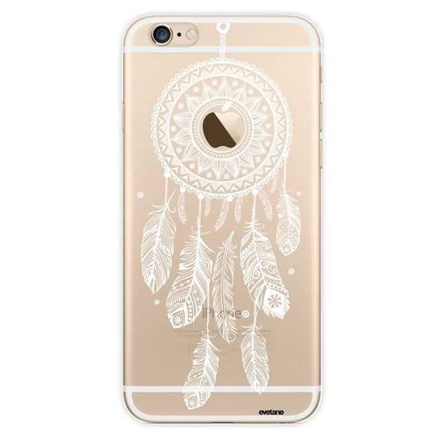 IPhone 6 iPhone 6S Hülle Transparent, White Dream Catcher, Evetane ...