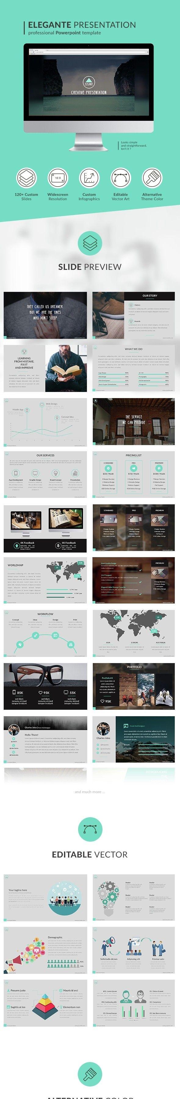 Elegante Powerpoint Presentation | Seo analysis, Social media ...