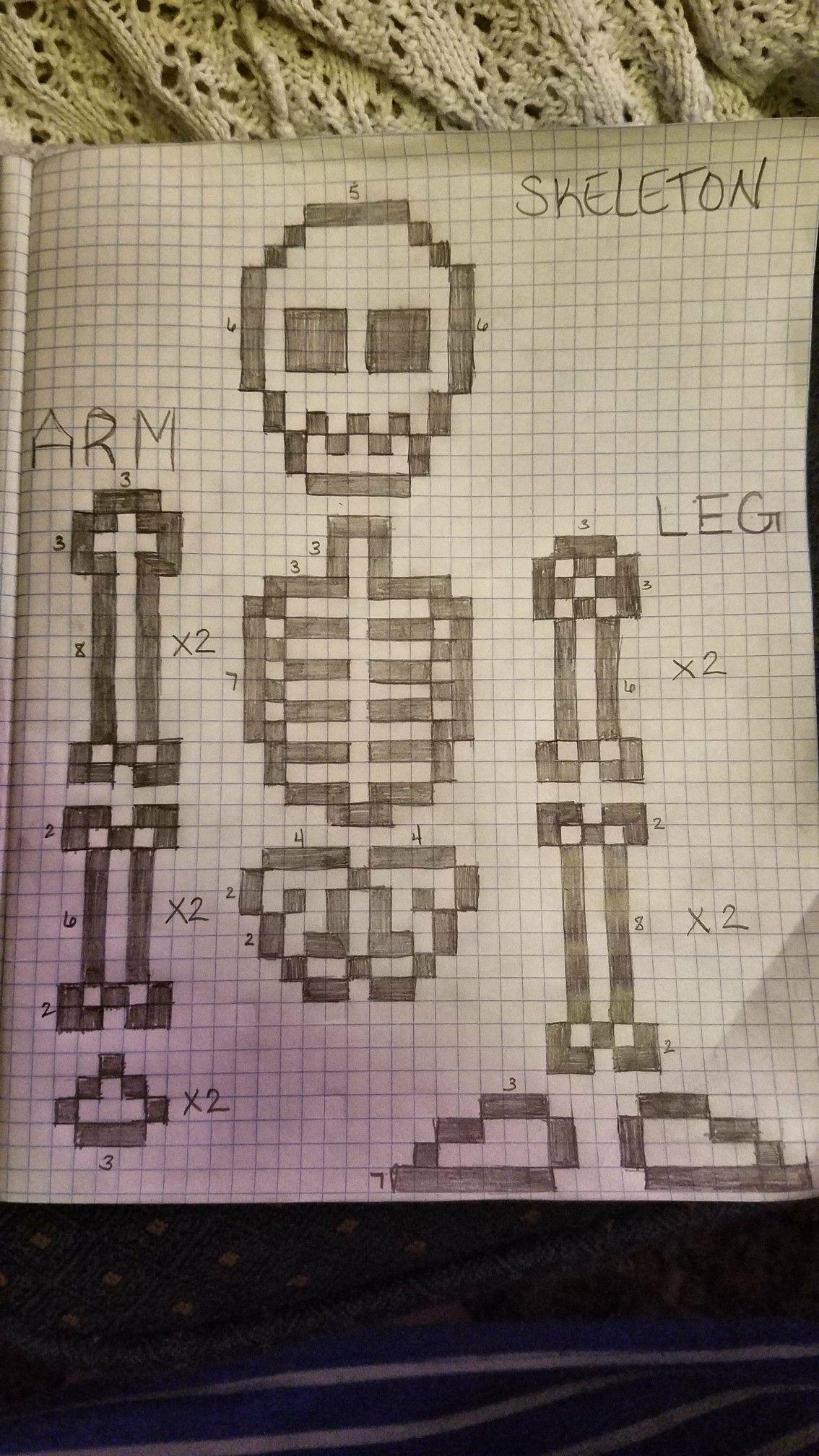 Skeleton Outline Perler Beads