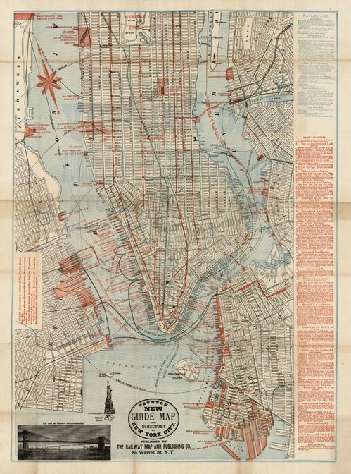LOVE this map of Manhattan c 1885 Maps Pinterest