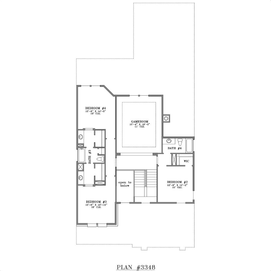 Two Story House Plan 3348 Jack And Jill Bathroom Jack And Jill Bathroom Plans