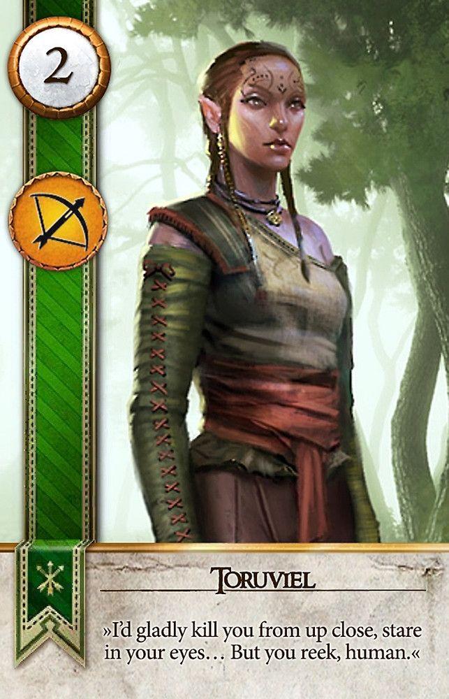 toruviel gwent card the witcher 3 wild hunt