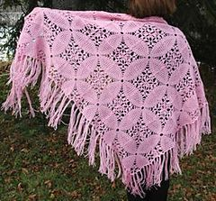 Ravelry: Pink Square Motif Shawl pattern by Elaine Phillips
