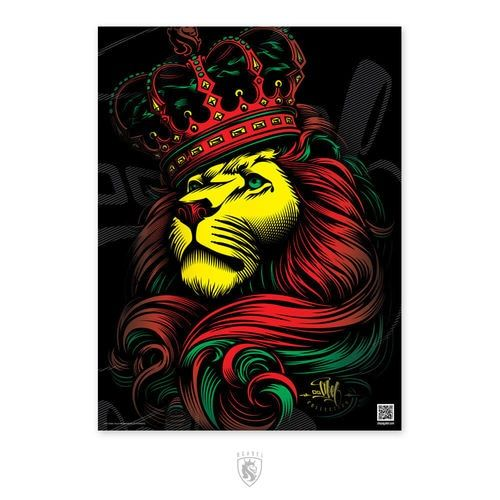 CROWN Rasta 18X24 Poster