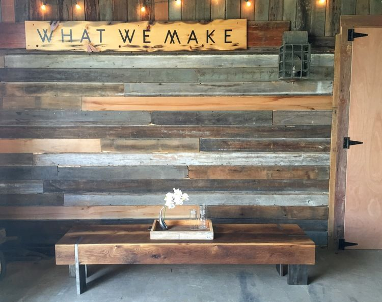 Long Modern Reclaimed Wood Coffee Table Solid Steel Legs