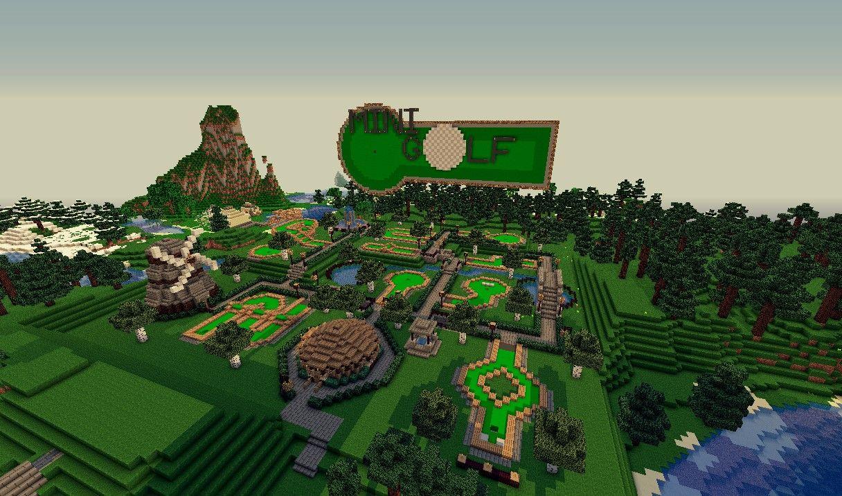 Mini Golf Minecraft Project Minecraft projects, Mini