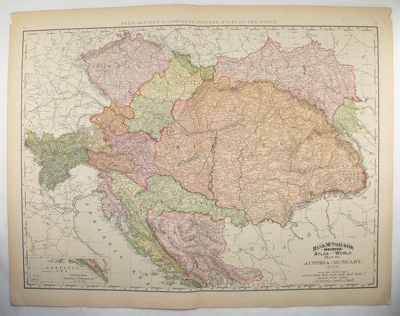 Austria Map Hungary 1896 Map Transylvania Map Bosnia Bohemia