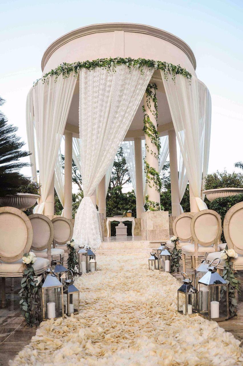 The Gazebo Is The Perfect Location For A Romantic And Elegant Wedding Here At Drea Gazebo Wedding Gazebo Wedding Decorations All Inclusive Destination Weddings