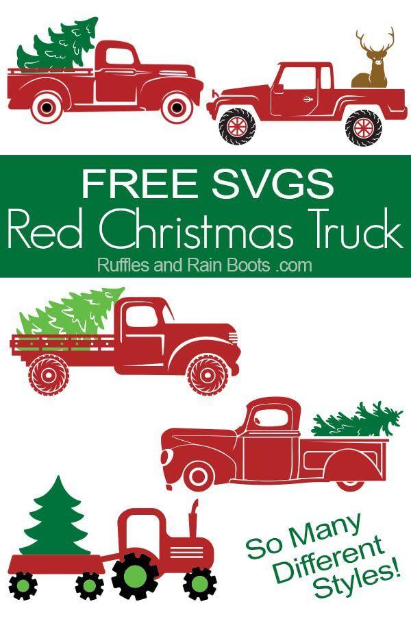 Kostenlose Christmas Truck SVG-Dateien - #christmas #Kostenlose #SVGDateien #Truck #holidaycraftschristmas