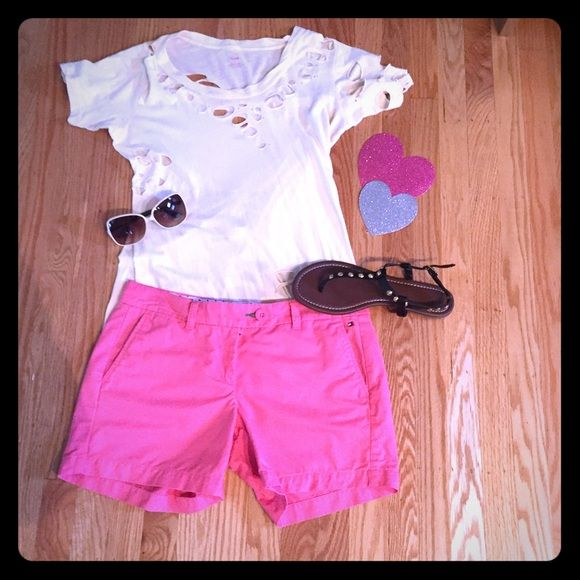 Adorable Pink Tommy Hilfiger Shorts  Great condition! Get ready for spring and summer!! Tommy Hilfiger Shorts