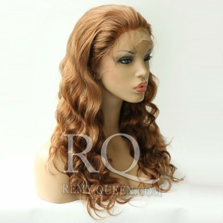 """93.00$  Buy here - http://alitrq.worldwells.pw/go.php?t=1275530814 - """"REMY Queen Hair Lace Front Wigs 30#  Medium Auburn Body Wave Wig for Black Women 8"""""""" to  24"""""""" 120% Density Buying From China"""" 93.00$"""