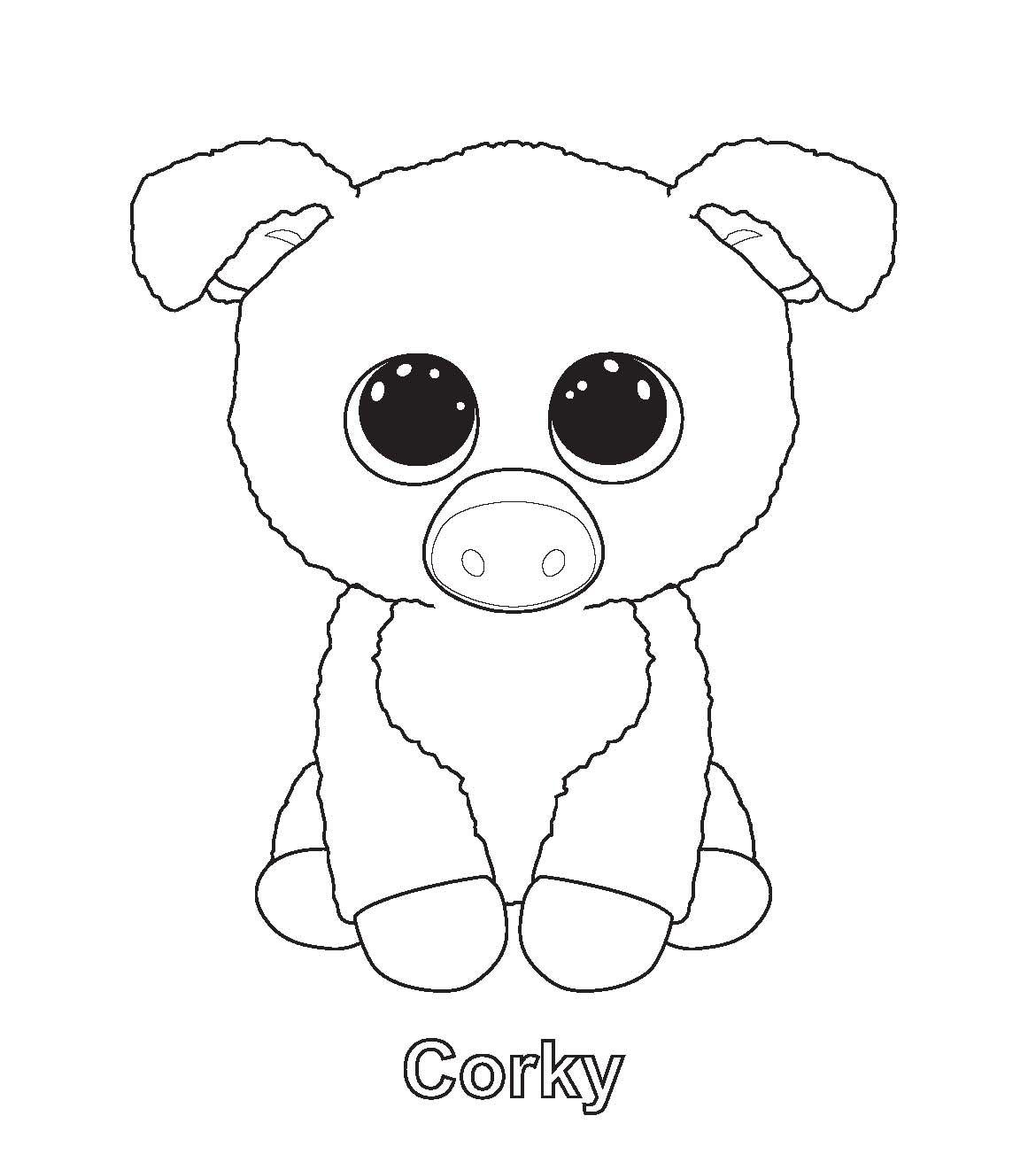 Slush Beanie Boo Coloring Page