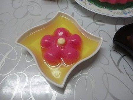 طرز تهیه ژله گلدار تک نفره مجله تصویر زندگی Spoon Rest Tableware
