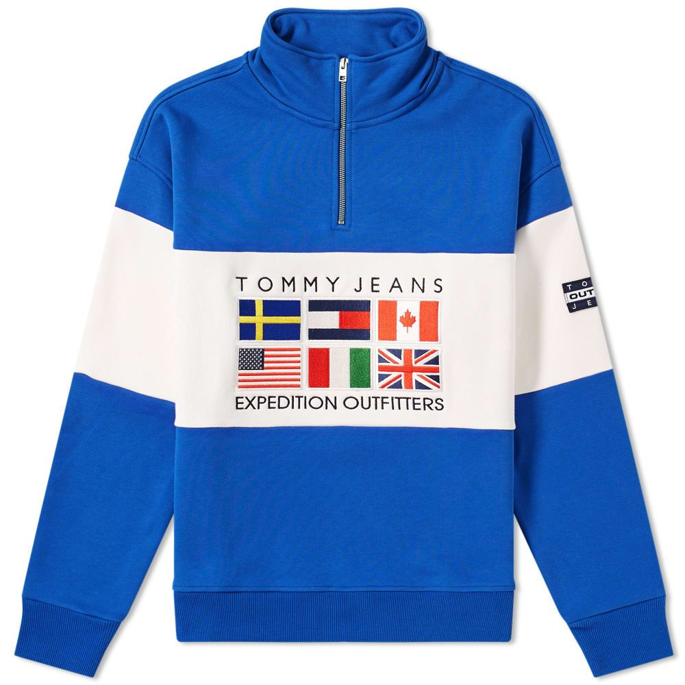 dd5ab7202 TOMMY JEANS TOMMY JEANS 6.0 OUTDOORS HALF ZIP SWEAT M25. #tommyjeans #cloth