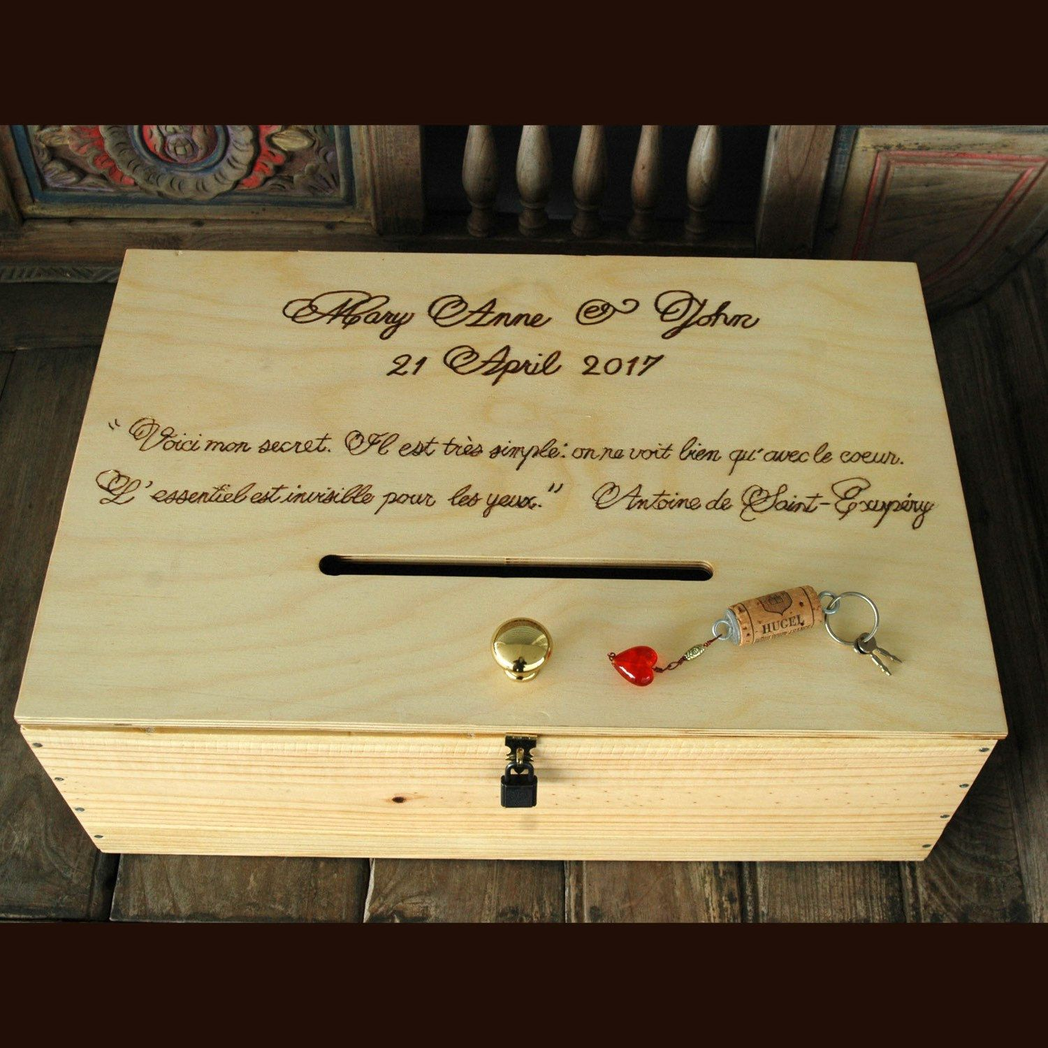 Wine Crate Card Box Spanish Wine Crate Storage Box Personalized