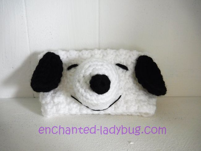 Free Crochet Snoopy coffee cup cozy pattern by The Enchanted Ladybug ...