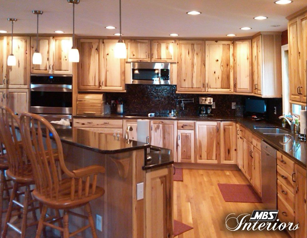 Best Rustic Hickory With Dual Wall Ovens Log Home Kitchens 400 x 300