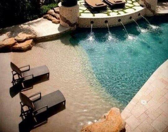 A beach theme pool