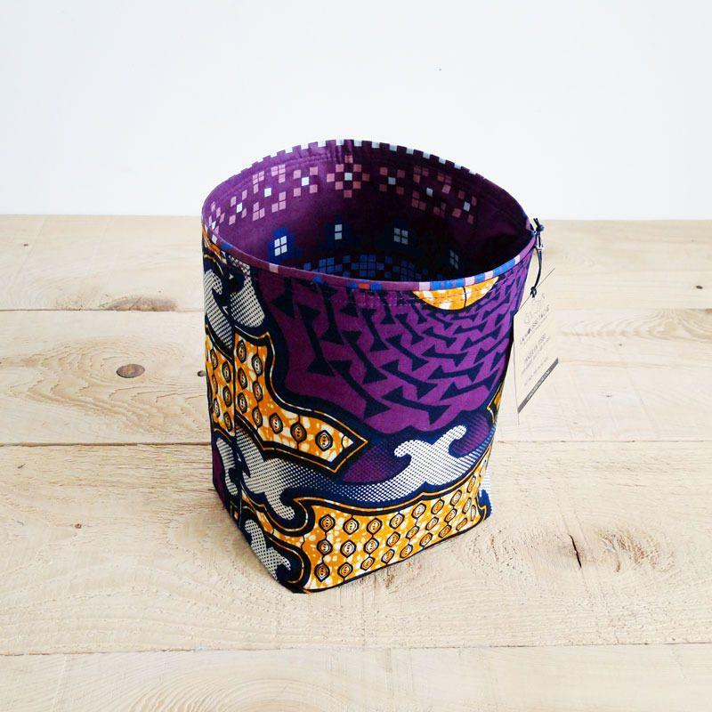 panier wax corbeille tissu rigide rangement l ger. Black Bedroom Furniture Sets. Home Design Ideas