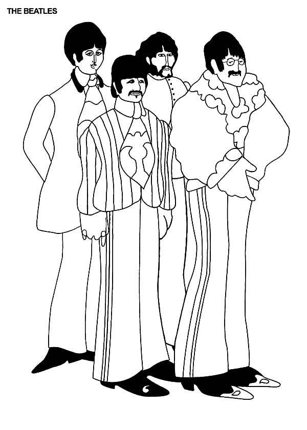 Pin de SUSIE Petri en LineArt: The Beatles | Pinterest