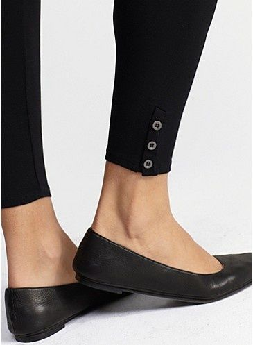 Eileen Fisher cropped leggings with buttons