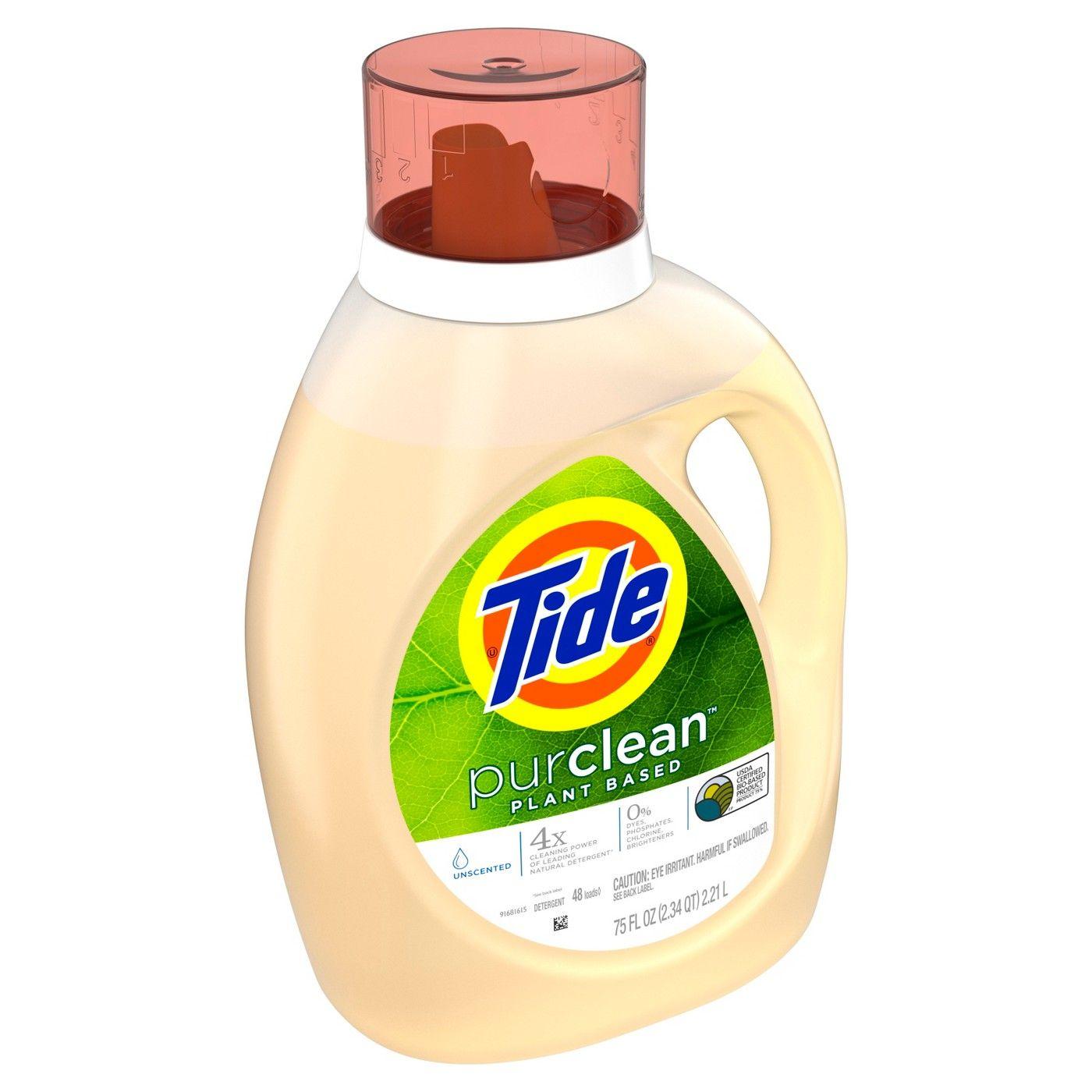Tide Purclean Plant Based Unscented Liquid Laundry Detergent 75 Fl Oz Image 1 Of 5