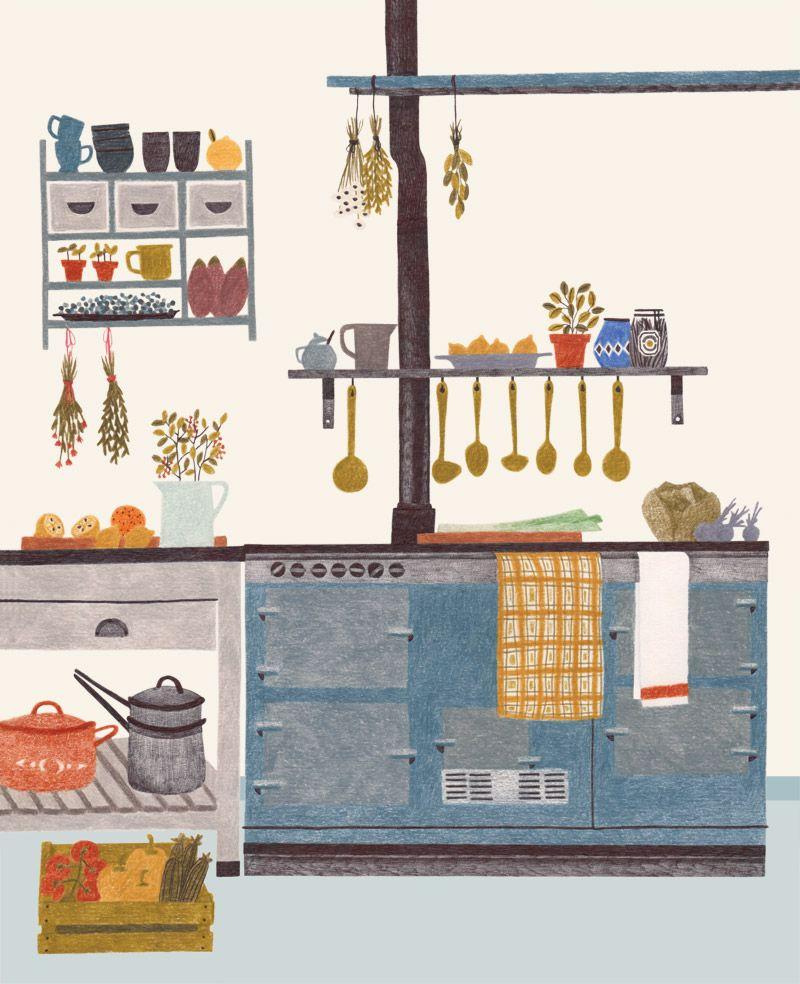 Kitchen Design Drawing: Illustration In 2019