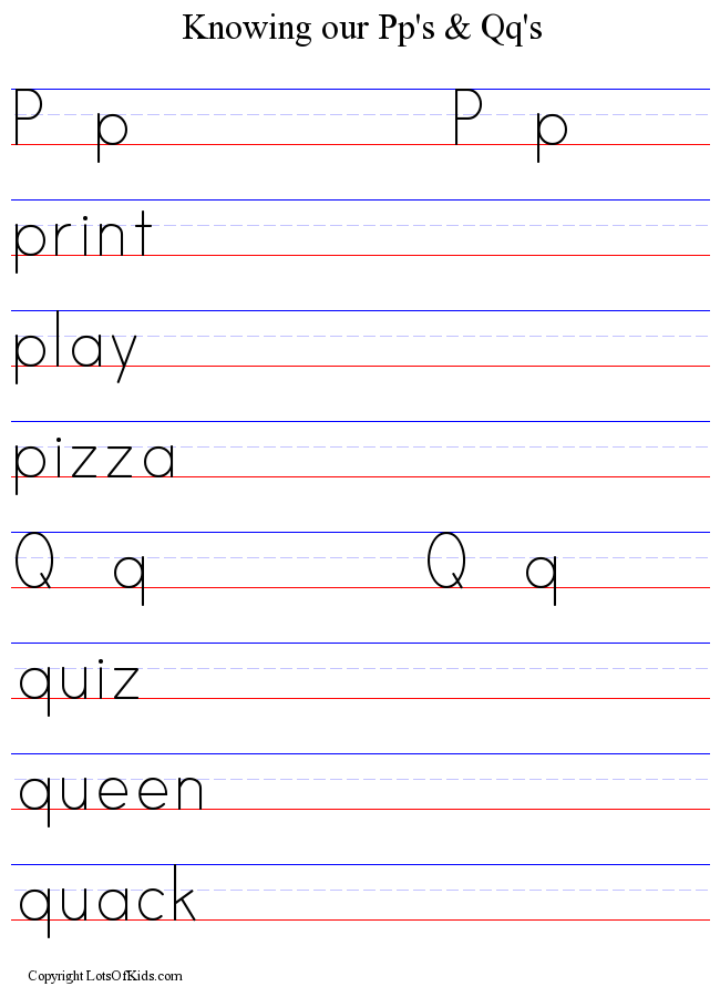 Handwriting Practice Worksheet Maker from Lotsofkids.com ...