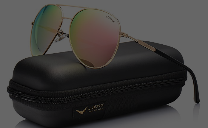 b5b01063cf Perfect summer sunglasses! LUENX Aviator Sunglasses Womens Polarized Mirror  with Case - UV 400 Protection