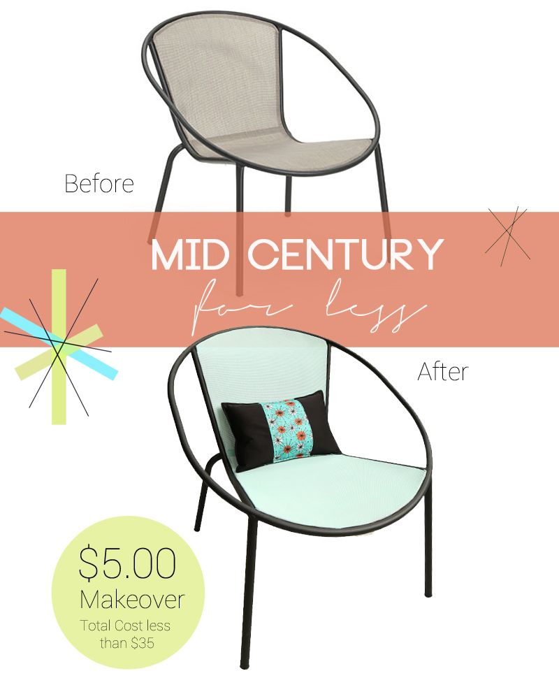 Get The Mid Century Modern Look For Less One Papasan Chair From Big