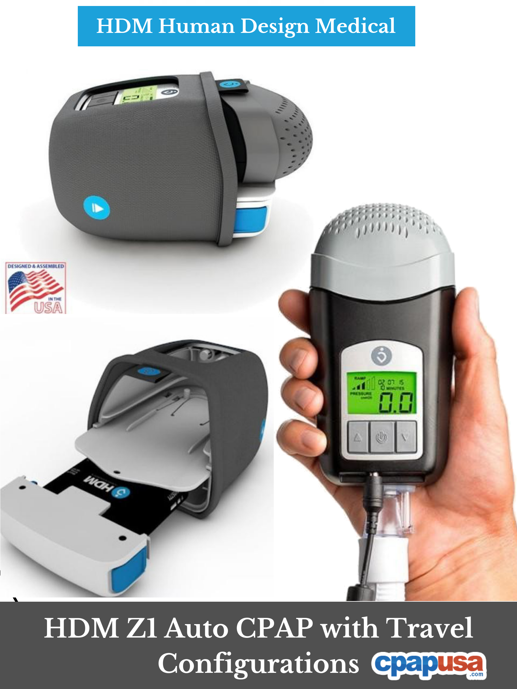 Lightweight Compact And Quiet The Z1 Cpap Machine From Hdm Delivers Travel Friendly Cpap Therapy That Can Fit In The Palm Of Your H Cpap Machine Cpap Travel