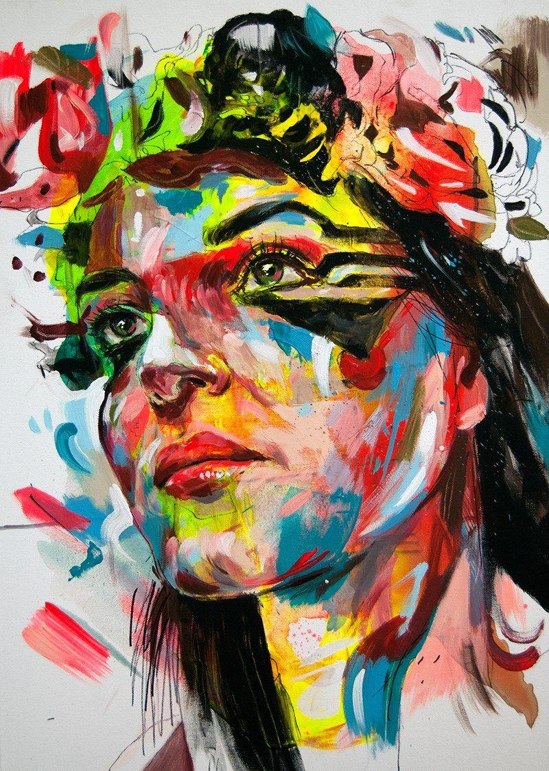 "Procrastination Vs. Motivation — Artist: Max Petrone ""Color G"" Acrylic on Canvas 50..."
