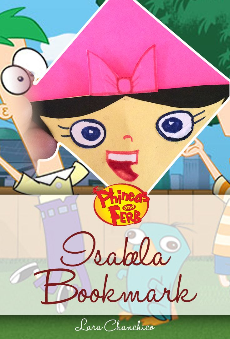 Time-lapse] - DIY Isabela (Phineas and Ferb) Bookmark Corner