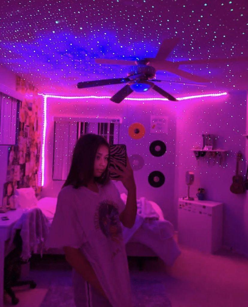Room Idea Neon Bedroom Neon Room Aesthetic Bedroom