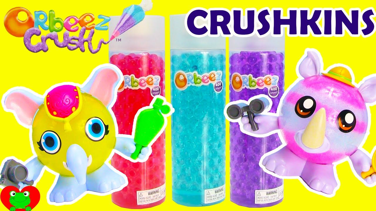 Orbeez Crush Crushkins Safari Elephant And Rhino Pets Crafting