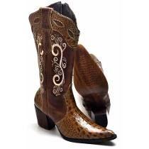 Bota Country Texana Anaconda Montaria Feminina Cavalaria  c488bfb9fbd