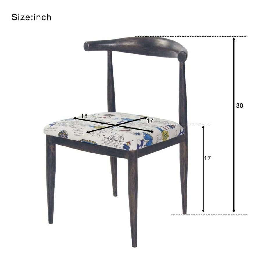 Dining Chairs PU Leather Steel Frame High Back Home Furniture fancy chairs massager chair