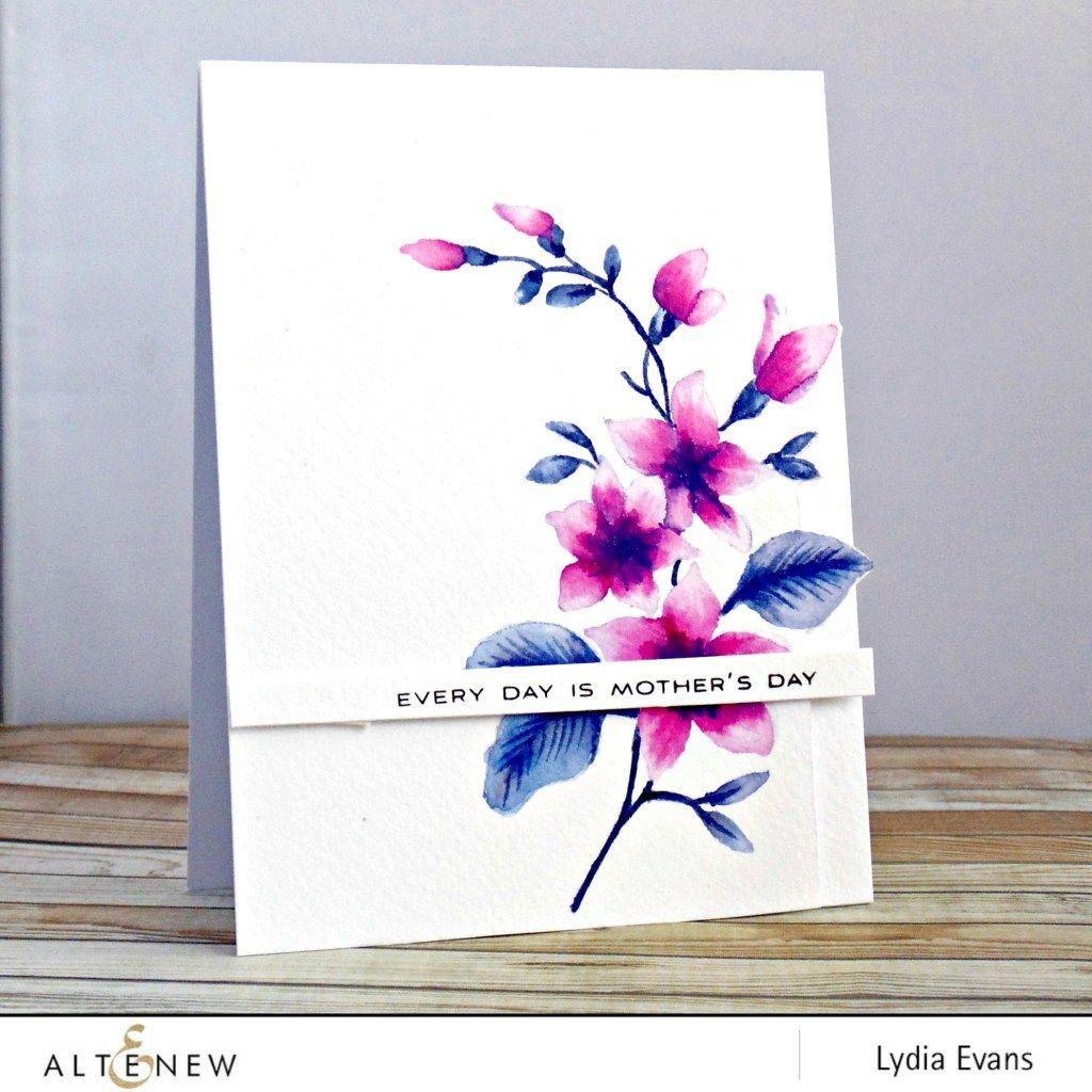 Altenew Best Mom Stamp Set Card By Lydia Beautiful Altenew Cards