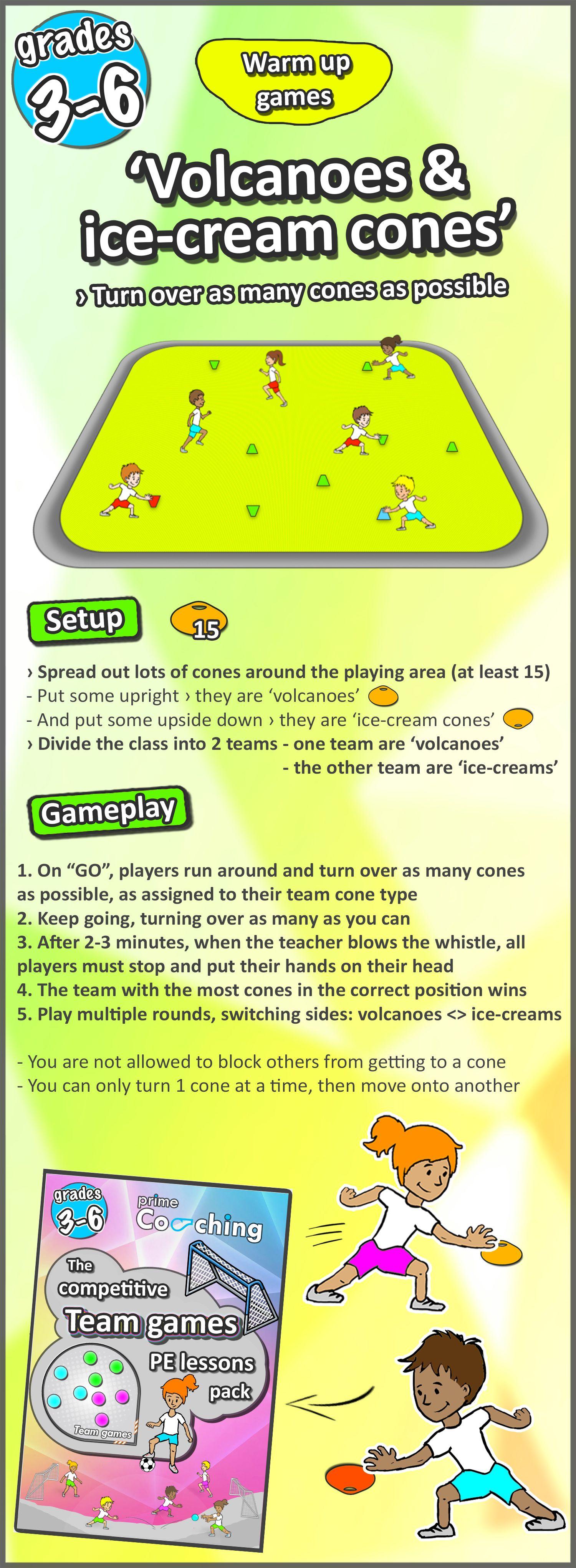 8 FREE PE Sport LESSON Warm Up Games Grades 3 6