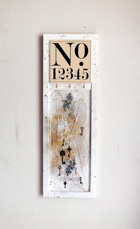 Key Holder Hanging Key Holder Handmade Acrylic And Steampunk Assemblage Mixed Media Art Acrylic Abstract Sha Original Paintings Shabby Chic Key Holder Art