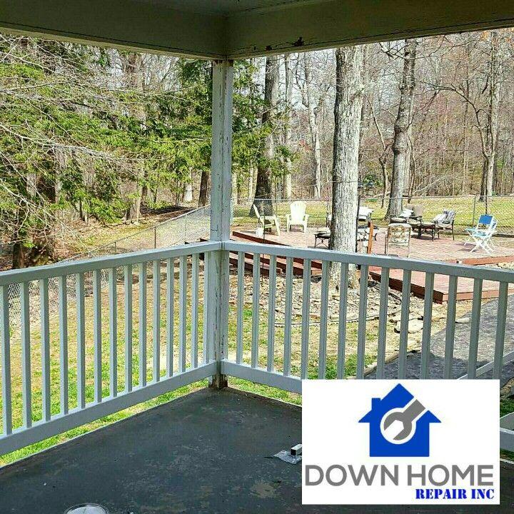 Vinyl porch railing installed by Down Home Repair Inc. 304 ...
