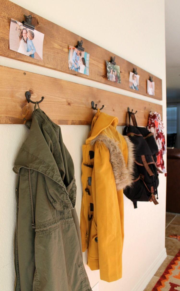 DIY Garderobe: 7 einfache Anleitungen + Ideen aus Holz, Rohr und mehr
