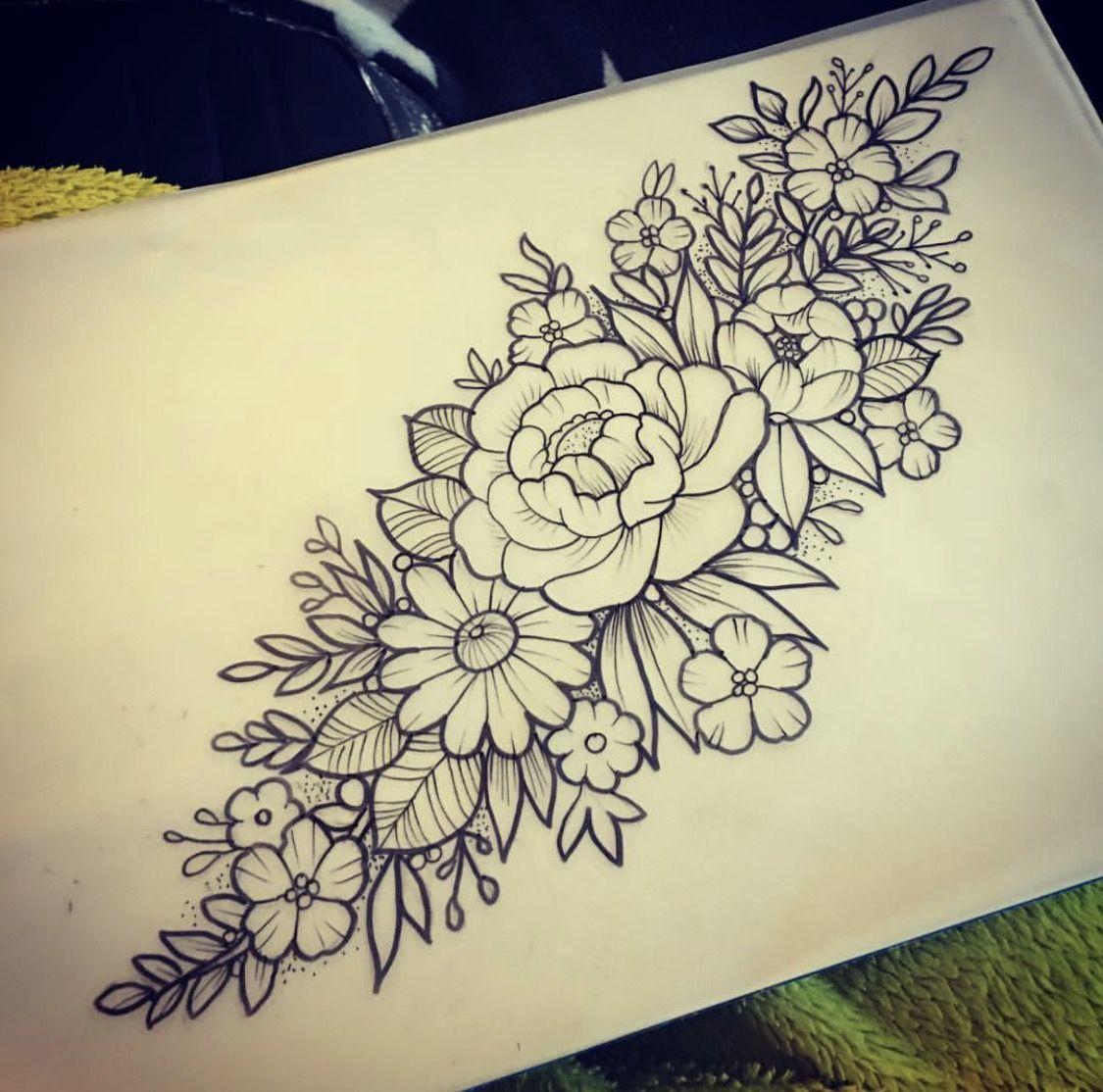 Pin De Claudia Membreno En Flowers Tatuajes Florales Disenos De